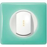 Enjoliveur blanc - Plaque 50's turquoise