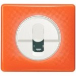 Enjoliveur blanc - Plaque 70's orange