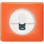 Enjoliveur blanc - Plaque 70's orange