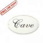 Plaque de porte Cave