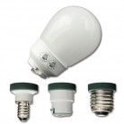 Ampoule mini spiralée avec vasque 9W - 3 culots
