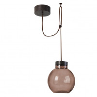 Suspension Raw marron à LED 14W