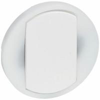 Enjoliveur large Céliane pour interrupteur , va-et-vient ou poussoir lumineux - Blanc 065004 Legrand
