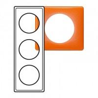 Plaque 3 postes Céliane 70's orange