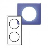 Plaque 2 postes Céliane 90's violet