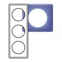 Plaque 3 postes Céliane 90's violet