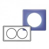 Plaque 2 postes entraxe 57mm Céliane 90's violet