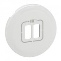 Enjoliveur prise double pour chargeur USB - Blanc