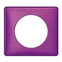 Plaque 1 poste Céliane Violet irisé