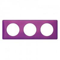 Plaque 3 postes Céliane Violet irisé