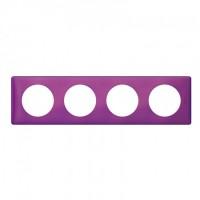 Plaque 4 postes Céliane Violet irisé