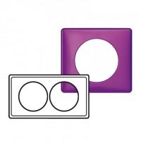 Plaque 2 postes entraxe 57mm Céliane Violet irisé