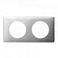 Plaque 2 postes Céliane Aluminium