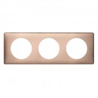 Plaque 3 postes Céliane Copper