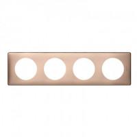 Plaque 4 postes Céliane Copper