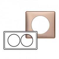Plaque 2 postes entraxe 57mm Céliane Copper