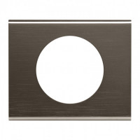 Plaque 1 poste Céliane Black Nickel