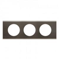 Plaque 3 postes Céliane Black Nickel