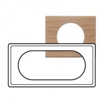 Plaque 4/5 modules Céliane Chêne Blanchi