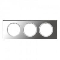 Plaque 3 postes Céliane Verre Miroir