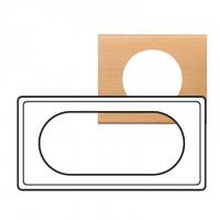 Plaque 4/5 modules Céliane Erable