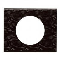 Plaque 1 poste Céliane Cuir Pixel