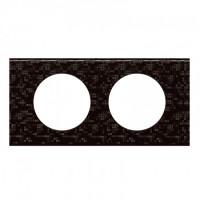 Plaque 2 postes Céliane Cuir Pixel