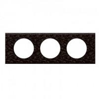 Plaque 3 postes Céliane Cuir Pixel
