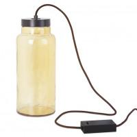 Lampe à poser Raw ambrée à LED 7W