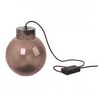 Lampe à poser Raw marron à LED 7W