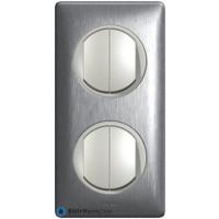 2 X double va et vient Céliane titane - Plaque Aluminium