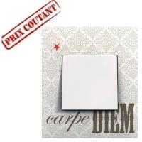 Plaque 1 poste - Carpe Diem