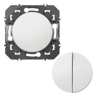Transformeur pour réaliser 5 fonctions va-et-vient et poussoir dooxie finition blanc