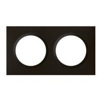 Plaque carrée dooxie 2 postes finition noir velours