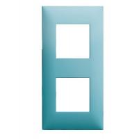 Plaque 2 postes - Turquoise