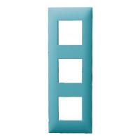 Plaque 3 postes - Turquoise