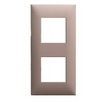 Plaque 2 postes - Chocolat