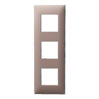 Plaque 3 postes - Chocolat