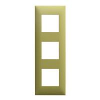 Plaque 3 postes - Vert
