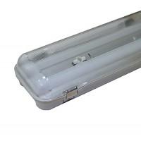 Réglette étanche Led intégrée 2x24W