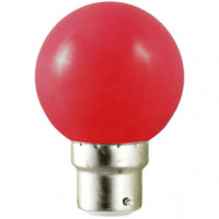 Ampoule LED B22 rouge - 1W