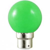 Ampoule LED B22 verte - 0,8W (équivalent 10W)