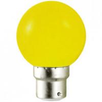Ampoule LED B22 jaune - 1W