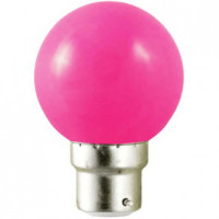Ampoule LED B22 rose - 1W