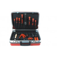 Valise électricien ABS rouge 19 outils