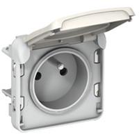Prise 2P+T à borne auto Plexo composable - Blanc