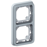 Support Plexo 2 postes vertical - Gris - 069685 - Legrand