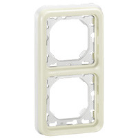 Support Plexo 2 postes vertical - Blanc