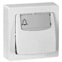 Poussoir porte-étiquette - 6 A - blanc