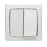 Double poussoir - 6 A - blanc